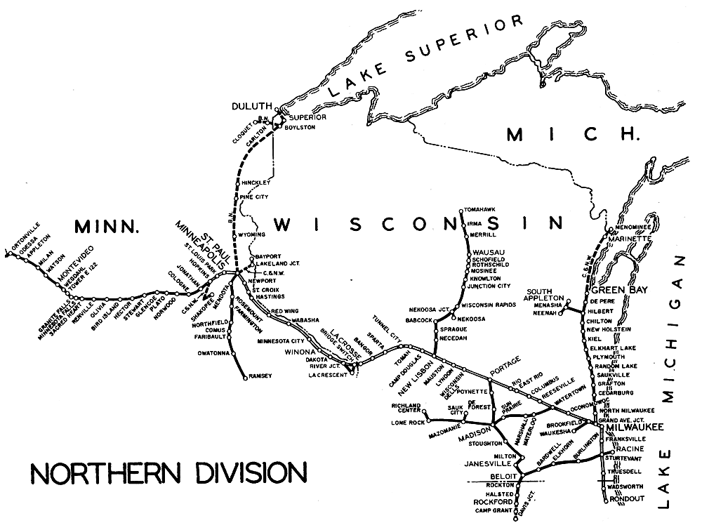 Milwaukee Road System Map
